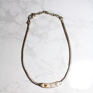 Brighton Silver and Gold Tone Heart Necklace